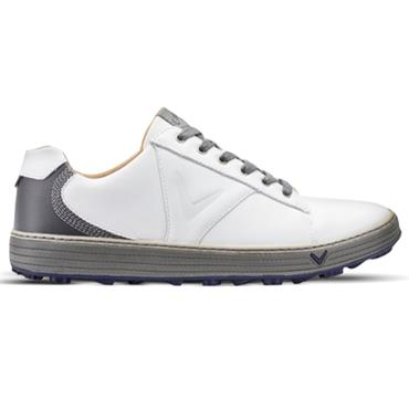 Callaway Gents Del Mar Retro Golf Shoes White - Charcoal