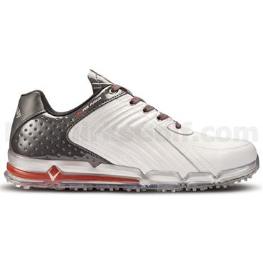 Callaway Gents Xfer Fusion Golf Shoes White - Grey - Crimson Red