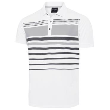 Galvin Green Gents Mayer Polo Shirt White - Steel