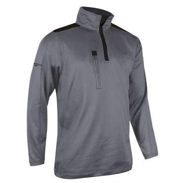 Glenmuir Gents Eltham Zip Neck Performance Midlayer Castlerock - Black