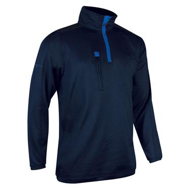 Glenmuir Gents Eltham Zip Neck Performance Midlayer Navy - Ascot Blue