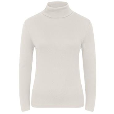 Emreco Ladies Millie Poloneck Long Sleeve Winter White
