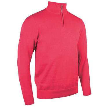 Glenmuir Gents Devon 1/4 Zip Sweater Daiquiri
