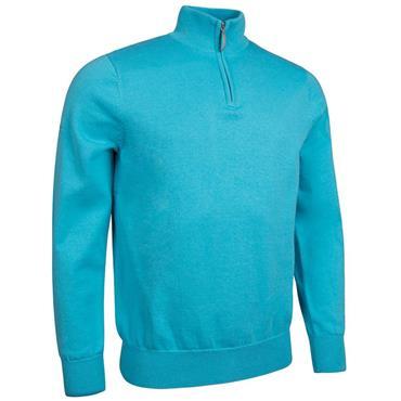 Glenmuir Gents Devon 1/4 Zip Sweater Aqua