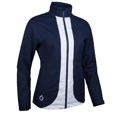Sunderland Ladies Montana Waterproof Jacket Navy - White
