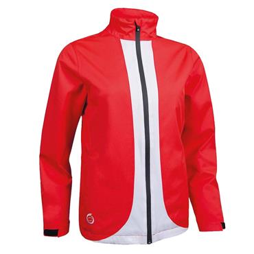Sunderland Ladies Montana Waterproof Jacket Red - White