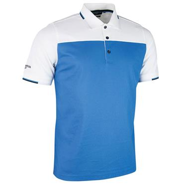 Glenmuir Gents Fredrick Polo Shirt Tahiti - White - Black