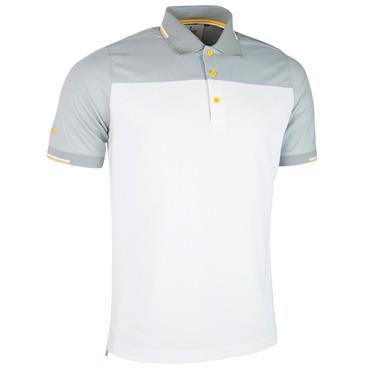 Glenmuir Gents Fredrick Polo Shirt White - Light Grey - Sunrise