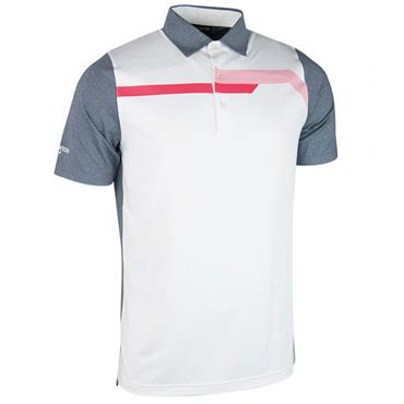 Glenmuir Gents Hatfield Micro Polo Shirt Navy - White