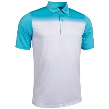 Glenmuir Gents Ombre Haddington Polo Shirt Aqua - White