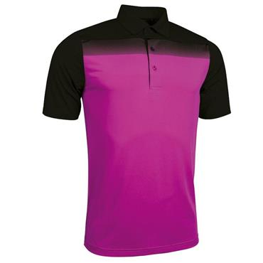 Glenmuir Gents Ombre Haddington Polo Shirt Black-Fuchsia