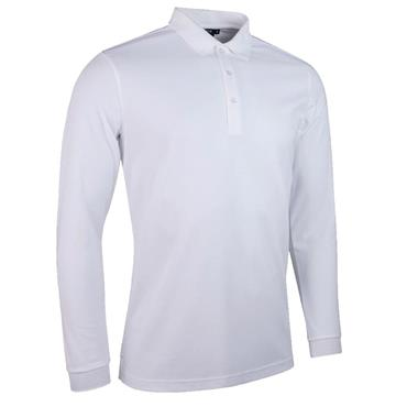 Glenmuir Gents Max Long Sleeve Performance Pique Polo Shirt White