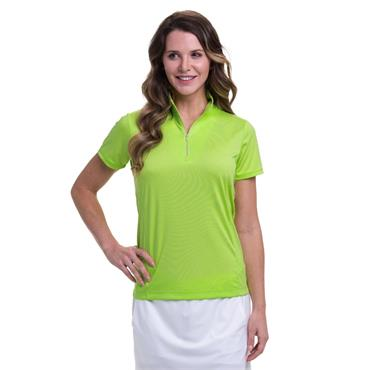 EPNY Ladies Convertible Zip Mock Polo Shirt Sprite
