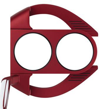 Odyssey O-Works 2-Ball Fang S Red Putter Winn Tour Grip Gents RH