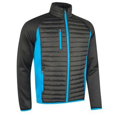 Sunderland Gents Ontario Front Padded Performance Golf Jacket Black - Blue