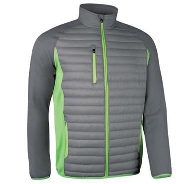 Sunderland Gents Ontario Front Padded Performance Golf Jacket Gunmetal - Green