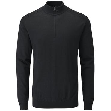 Ping Gents Couper Lined Zip Sweater Black