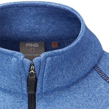 Ping Gents Ramsey ½ Zip Fleece Vest Snorkel Blue Marl