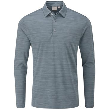 Ping Gents Corey Long Sleeve Polo Shirt Greystone Multi