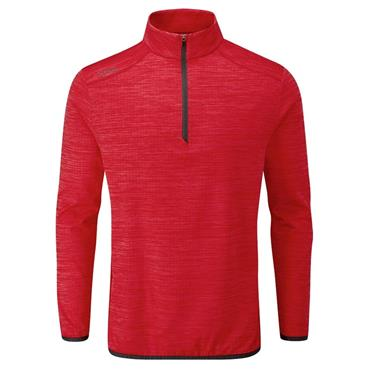 Ping Gents Edison 1/2 Zip Top Cyber Red Marl