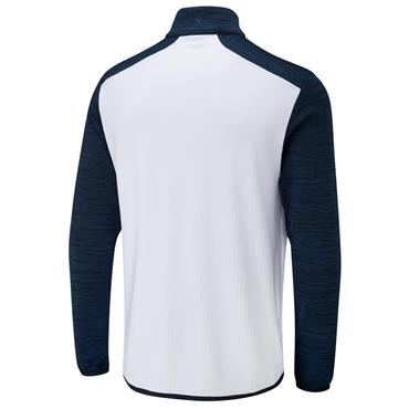 Ping Gents Edison ½ Zip Top White - Oxford Blue Marl