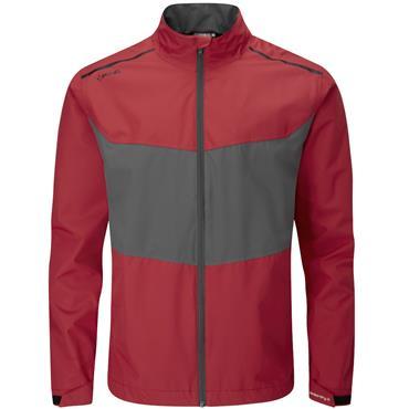 Ping Gents Downton Waterproof Jacket Fire Brick - Asphalt