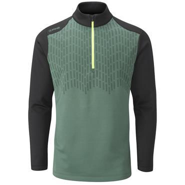 Ping Gents Nordic ½ Zip Top Green - Black