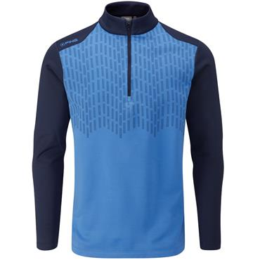 Ping Gents Nordic 1/2 Zip Top Brilliant Blue - Oxford Blue