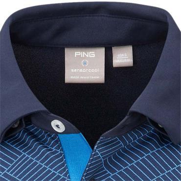 Ping Gents Etten Polo Shirt Navy Multi