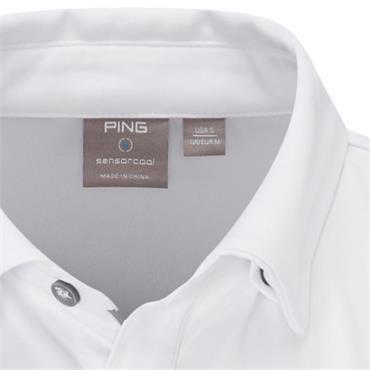 Ping Gents Holten Polo Shirt White