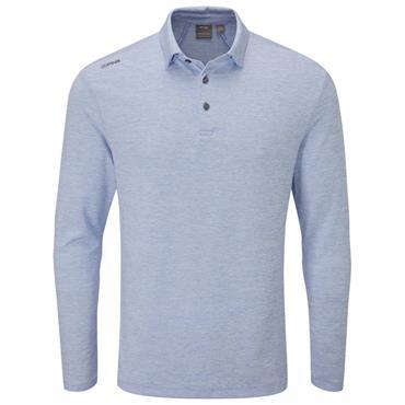 Ping Gents Angus Long Sleeve Polo Shirt Marina