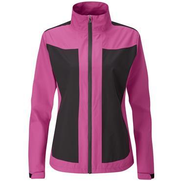 Ping Ladies Juno Waterproof Jacket Fuchsia - Black