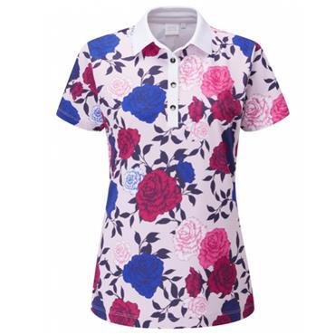 Ping Ladies Rose Garden Polo Pink Multi 501