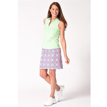 Golftini Ladies Candy Land Skort White - Pink - Mint