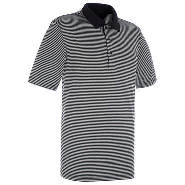 Proquip Gents Pro Tech Bar Stripe Polo Shirt Black - Grey