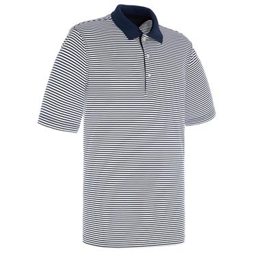 Proquip Gents Pro Tech Bar Stripe Polo Shirt Navy - White