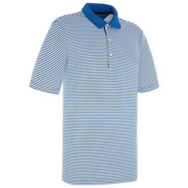 Proquip Gents Pro Tech Bar Stripe Polo Shirt Royal - White