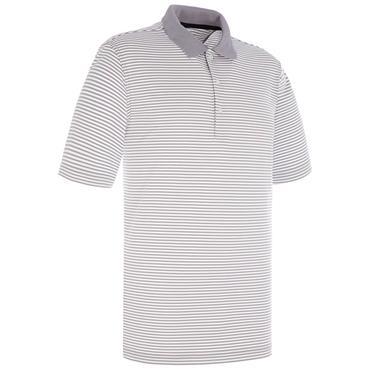 Proquip Gents Pro Tech Bar Stripe Polo Shirt Steel - White