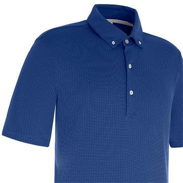 Proquip Gents Pro Tech Mini Jacquard Polo Shirt Royal Blue