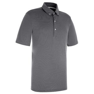 Proquip Gents Pro Tech Mini Jacquard Polo Shirt Steel