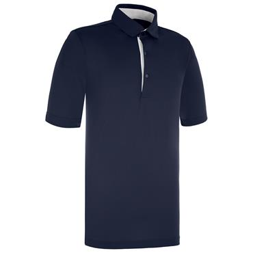 Proquip Gents Pro Tech Peached Polo Shirt Navy