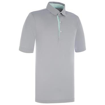 Proquip Gents Pro Tech Peached Polo Shirt Steel Grey