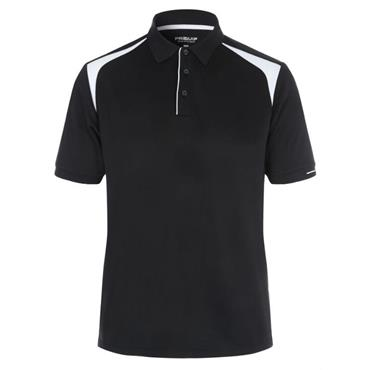 Proquip Gents Tech Panel Polo Shirt Black