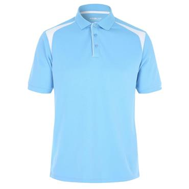 Proquip Gents Tech Panel Polo Shirt Sky Blue