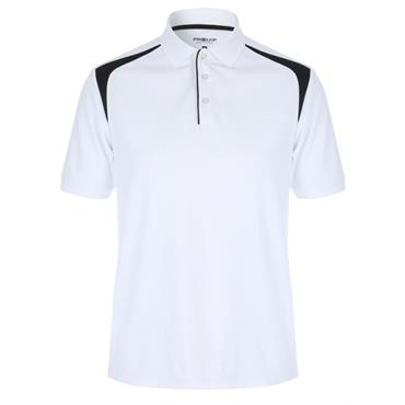 Proquip Gents Tech Panel Polo Shirt White