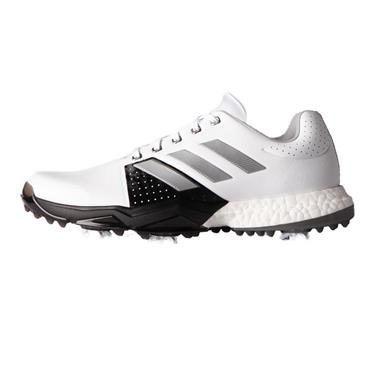 adidas Gents Adipower Boost 3 Golf Shoes Medium Fit White - Silver Metallic - Core Black