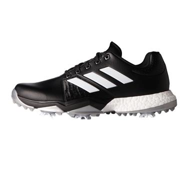 adidas Gents Adipower Boost 3 Golf Shoes Medium Fit Core Black - White - Silver Metallic