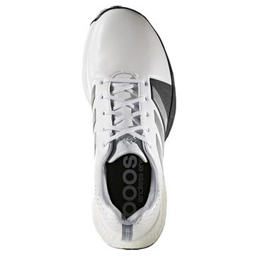 adidas Gents Adipower Boost 3 Golf Shoes Wide Fit White - Silver Metallic - Core Black