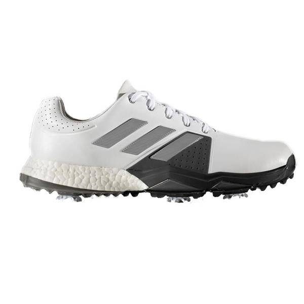 on sale 49313 76fff adidas Gents Adipower Boost 3 Golf Shoes Wide Fit White - Silver ...
