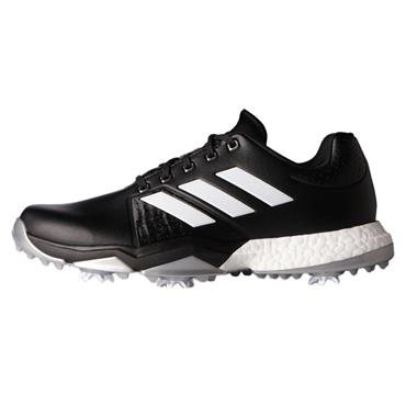 adidas Gents Adipower Boost 3 Golf Shoes Wide Fit Core Black White - Silver Metallic